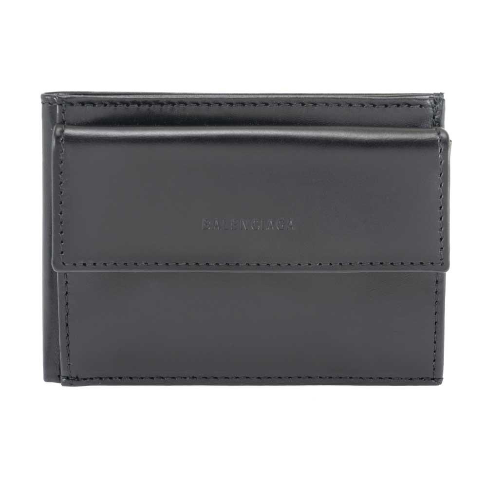 バレンシアガ BALENCIAGA 財布 二つ折り財布 メンズ ブラック 543900 0ST22 1000 レザー 革 男性