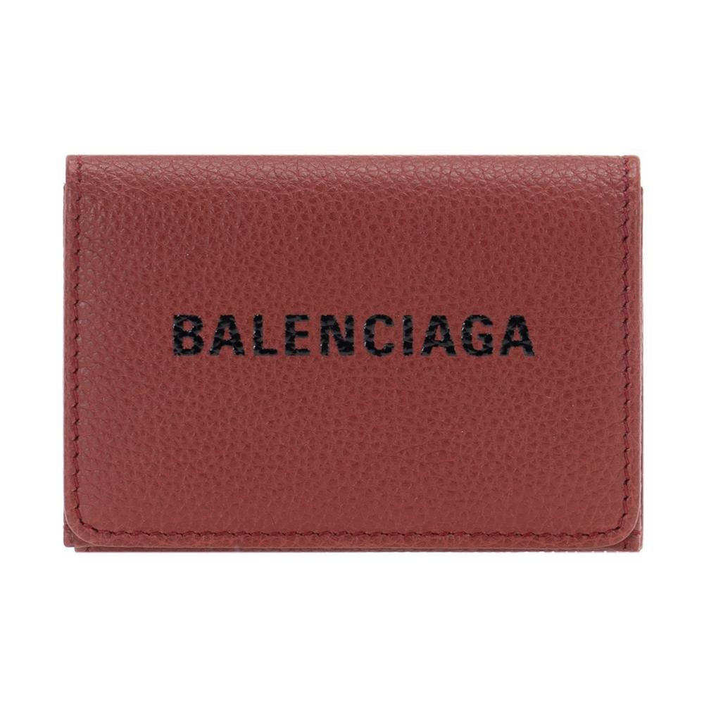 バレンシアガ 財布 三つ折り財布 コンパクト レディース メンズ BALENCIAGA 551921 00SHN 6065 レザー ダークレッド EVERYDAY エブリデイ 男女兼用