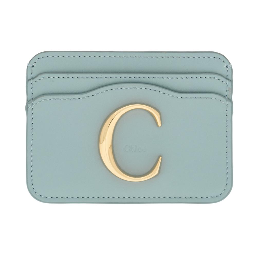 クロエ カードケース カードホルダー Chloe クロエ シー CHLOE C レディース フェイドブルー CHC19UP085A3744L CARD HOLDRS Faded Blue レザー 革 ギフト プレゼント