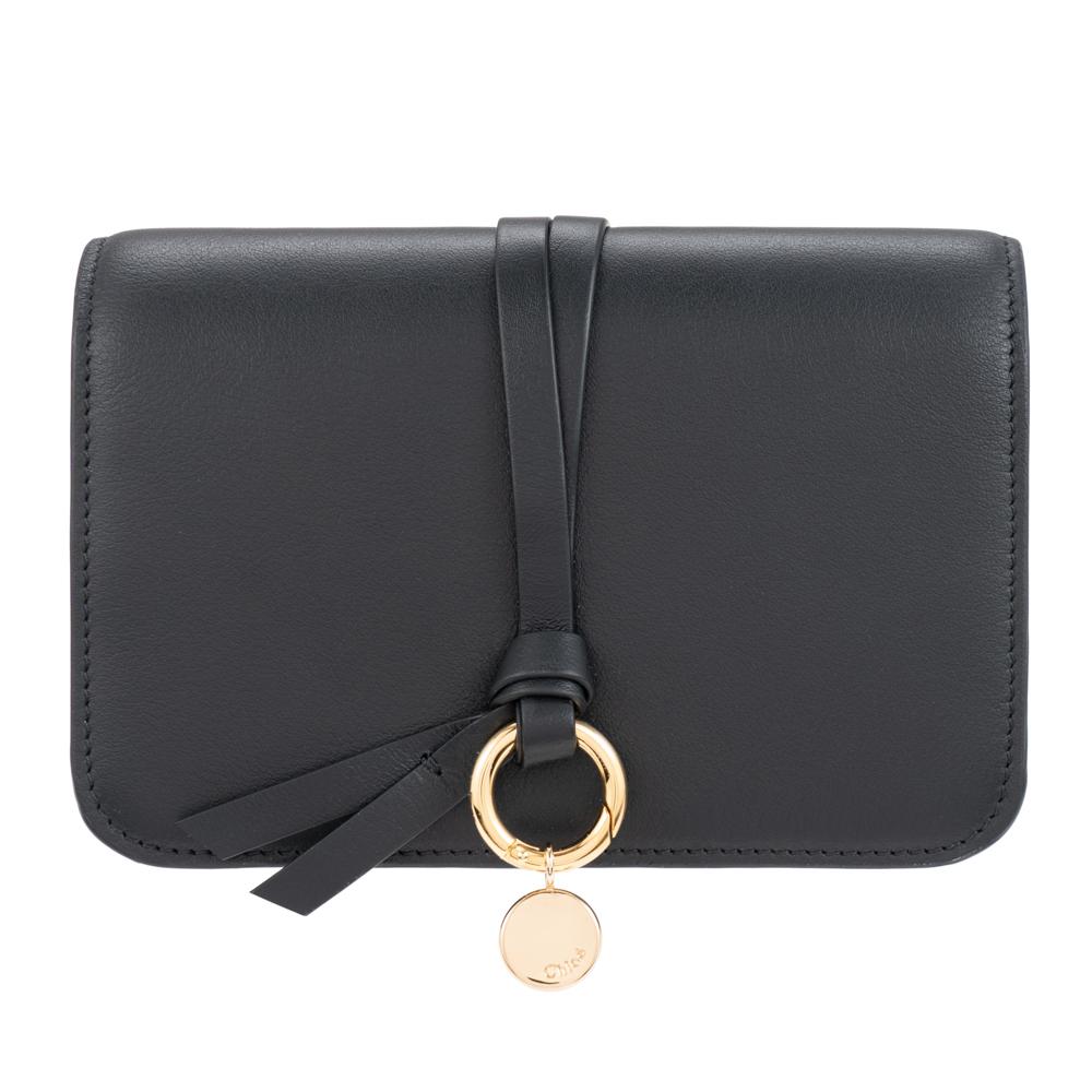クロエ 財布 三つ折り財布 コンパクト ブラック Chloe アルファベット ALPHABET レディース レザー CHC16AP709H1Z001 Compact wallet プレゼント ギフト 小物