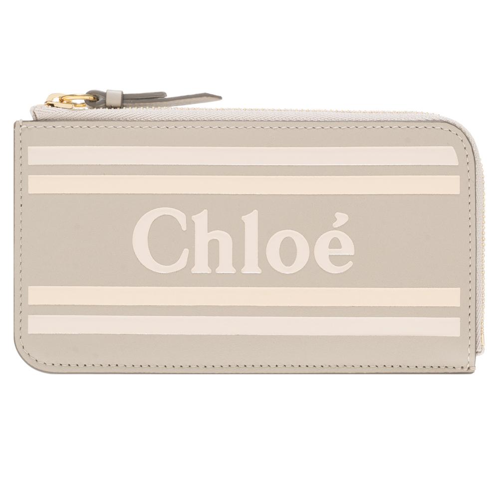 クロエ Chloe 小銭入れ カードケース 財布 パステルグレー VICK ヴィック レザー レディース chc19sp067a88089 ショップ袋付 ギフト プレゼント