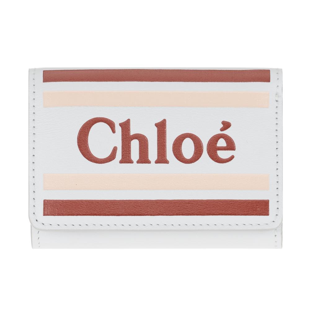 クロエ 財布 ミニ財布 三つ折り財布 小銭入れ付き Chloe VICK ヴィック レザー レディース CHC19UP076A884E7 Light Cloud ギフト プレゼント