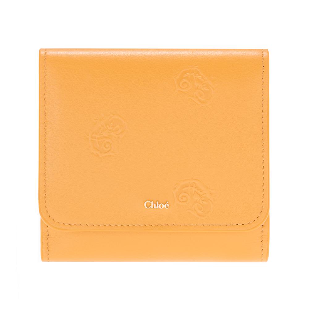 訳あり クロエ 財布 二つ折り財布 コンパクト イエロー Chloe SIGNATURE レディース レザー CHC18WP092A55214 Burning Camel Compact wallet プレゼント ギフト 小物