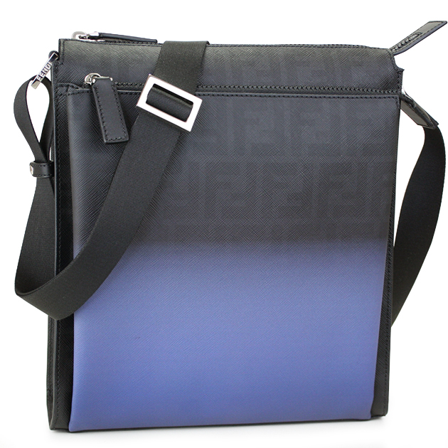 8becd628fb Fendi by FENDI bag mens Messenger bag caked pattern 7 VA319 00N8R F0L3U  black / cobalt blue Fendi by FENDI ★ reviews to write!