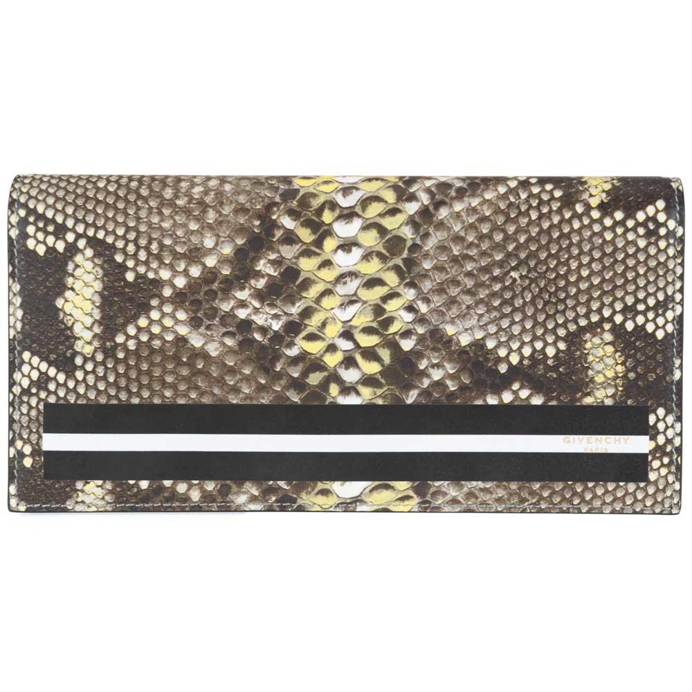 GIVENCHY ジバンシー 長財布 二つ折り長財布 パイソン/ブラック メンズ レディース BK06030239 レザー 革 黒