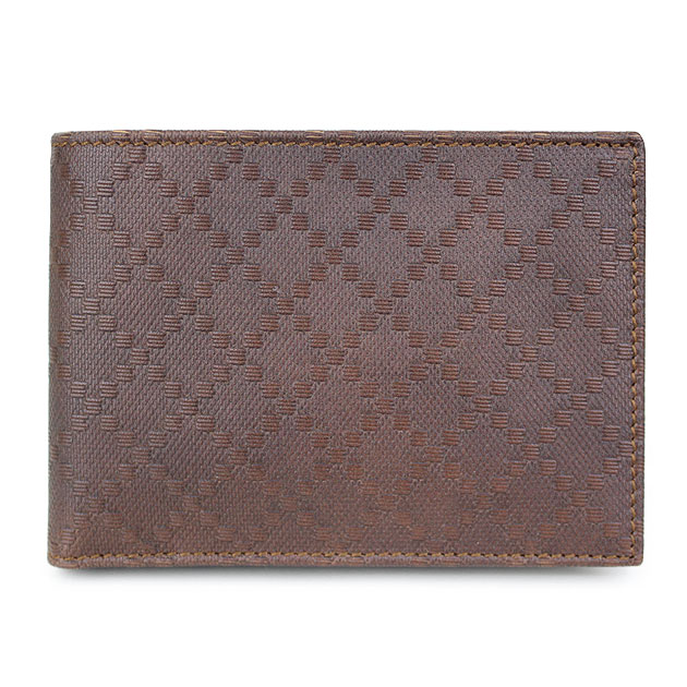 1ca26d8ecf4 Gucci wallets GUCCI mens two bi-fold wallet brown leather Diamante 292533