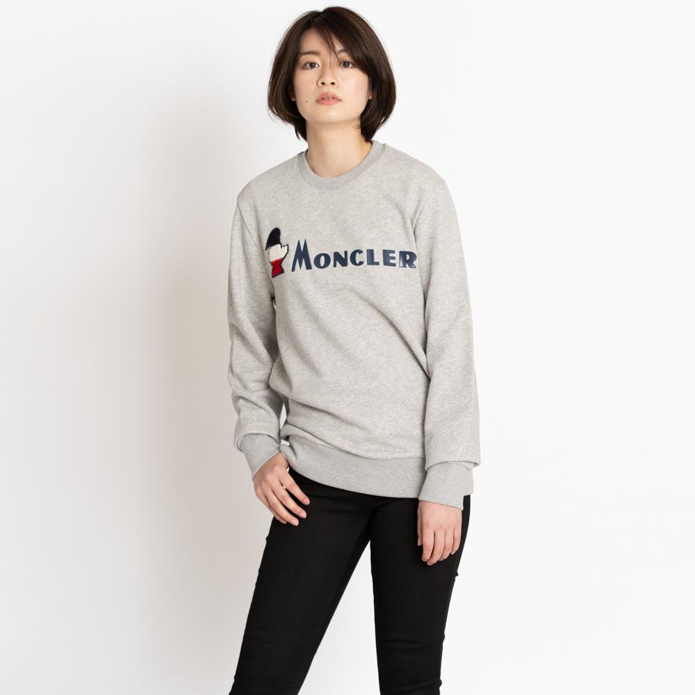 モンクレール トレーナー MONCLER MAGLIA GIROCOLLO グレー S/M 8041900 8098U 910 レディース メンズ トップス 新品 正規品