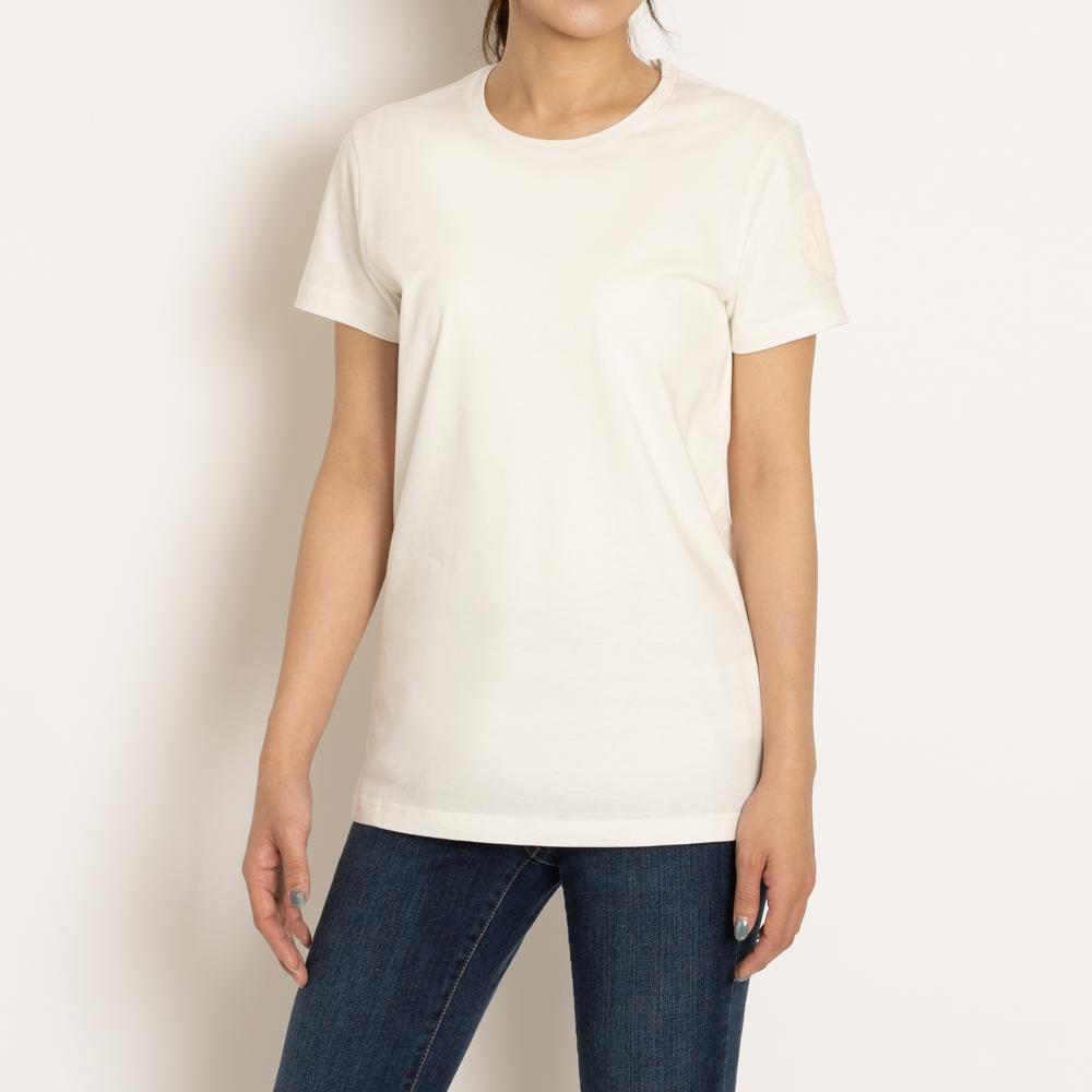 モンクレール レディーストップス セール SALE 送料無料 MONCLER Tシャツ トップス カットソー レディース ホワイト XS 国内送料無料 8090460 M コットン 品質検査済 綿 T-SHIRT L GIROCOLLO 白 033 S V8058