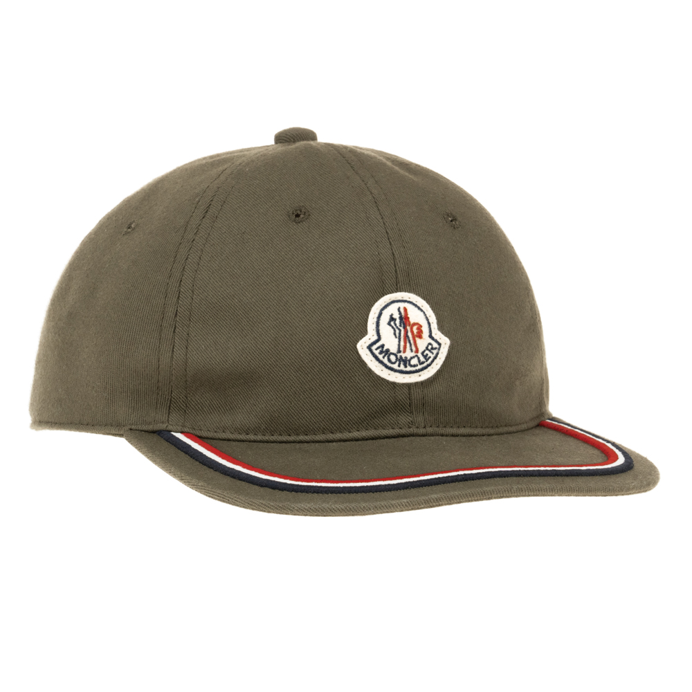 モンクレール MONCLER キャップ 野球帽 帽子 ベースボールキャップ カーキ お洒落 メンズ レディース ロゴ ブランド BERRETTO BASEBALL 0098155 V0001 854 ユニセックス