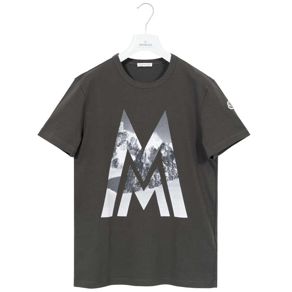 モンクレール Tシャツ メンズ MONCLER カットソー メンズ 半袖 袖ロゴ カーキ MONCLER MAGLIA T-SHIRT 8036150 8390T 828 Sサイズ【送料無料】【メンズ トップス ブランドTシャツ】
