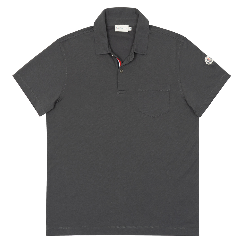 1719ea12 cutiespy: Monk rail MONCLER polo shirt men short sleeves sleeve logo ...