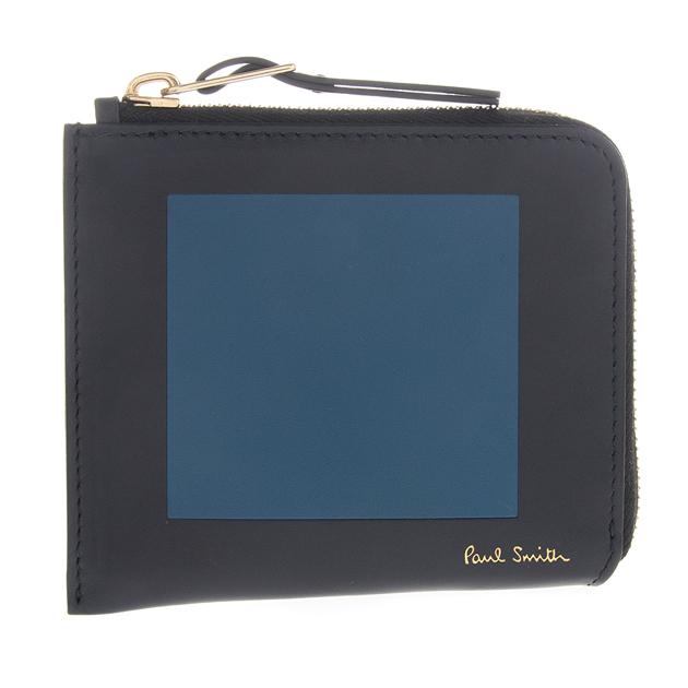 ポールスミス Paul Smith コインケース/カードケース 財布 コーナーポーチ ネイビー/ブルー APXA 4539 W758 スペイン製 レザー メンズ 新品・正規品