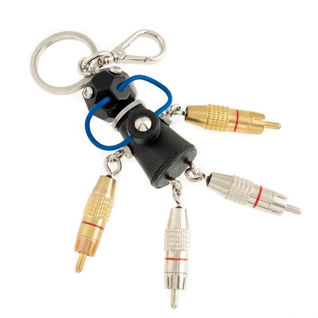 プラダ PRADA キーホルダー ロボット ブラック/シルバー/ゴールド 1ARI12 アウトレット チャーム メンズ レディース 新品 正規品 送料無料