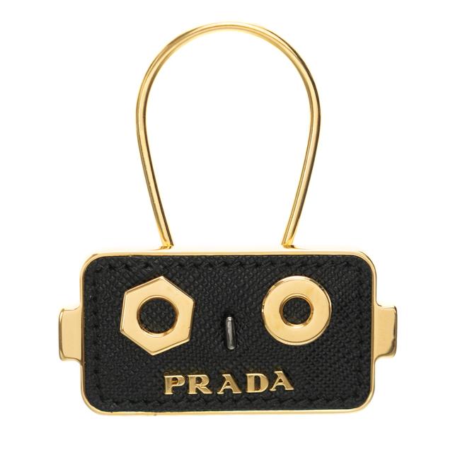 2dfd2b85e968 プラダ PRADA キーホルダー ロボット レザー ブラック/ゴールド 1PP054 053 F0002 新品 正規品 送料無料