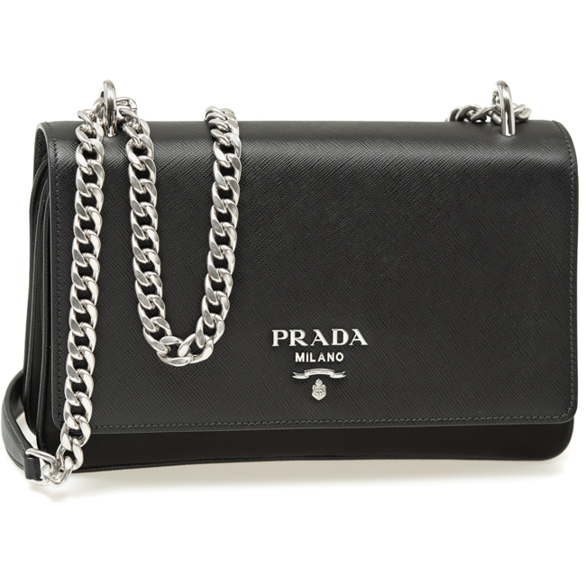 c50903caf97061 Prada bag lady PRADA shoulder bag nylon / サフィアーノレザーブラック 1BD009 ZMY F0002  PATTINA ...