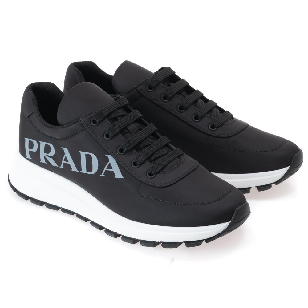 プラダ スニーカー メンズ 靴 シューズ PRADA ブラック ナイロン イタリアサイズ 7.5(日本サイズ27.5cm) 4E3483 2ODZ F0002 NYLON PIUMA 1