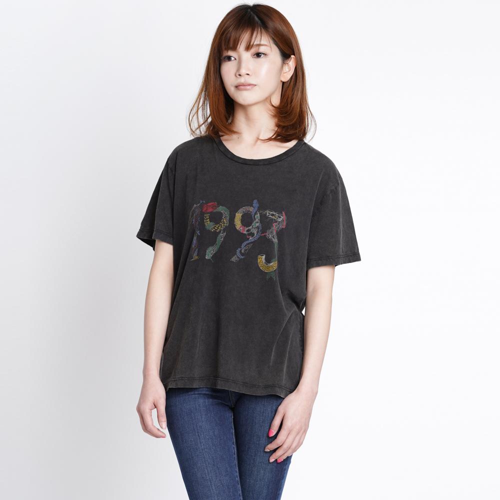 サンローランパリ SAINT LAURENT PARIS Tシャツ カットソー レディース ブラック Mサイズ 510970 YB2P0 1069 カジュアル おしゃれ 1993 ロゴ 黒