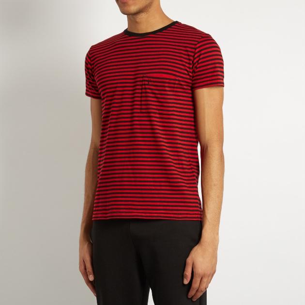 サンローランパリ SAINT LAURENT PARIS Tシャツ メンズ カジュアル おしゃれ 胸ロゴ XS 454134 Y2PM1 6403 送料無料