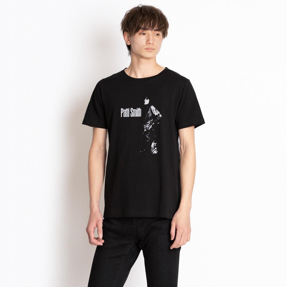 サンローラン パリ SAINT LAURENT PARIS Tシャツ カットソー メンズ ブラック サイズXS 512328 YB2RP 1095 Patti Smith プリント カジュアル おしゃれ