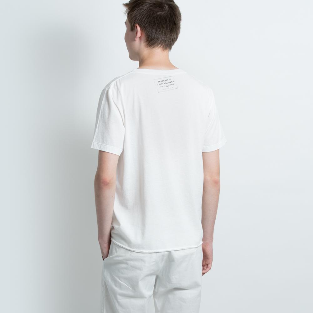 サンローランパリ SAINT LAURENT PARIS Tシャツ カットソー メンズ ホワイト 500635 YB2NB 9744 S フランス製 おしゃれ ロゴ カジュアル 送料無料
