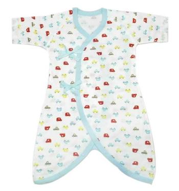 フライス素材を使用した新生児用肌着の4枚セット コンビ肌着と短肌着が各2枚入り 引出物 綿100%の外縫い使用なので安心 50~70cm コンビ肌着×2短肌着×2 安値 新生児肌着4枚セット