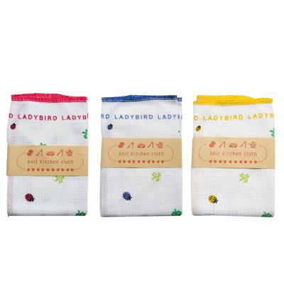 6枚までネコポス可 幸せを運ぶてんとう虫テントウムシ柄 生地の編みたてから縫製 仕上げまで織物の町 賜物 和歌山高野口町で生産されている 業界No.1 安心の商品です イノダ生地 レディーバード おしゃれなキッチンクロス 日本製