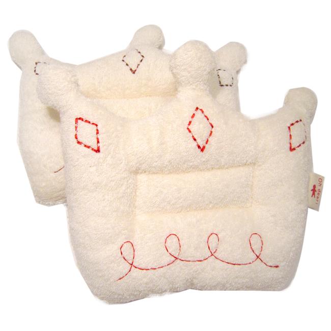 ネコポス可 今治タオル クラウンの形をした赤ちゃん用枕です 低価格化 出産祝いに 約18.5x25cm 今治産ベビー枕 クラウンピロー 春の新作 オーガニックコットン