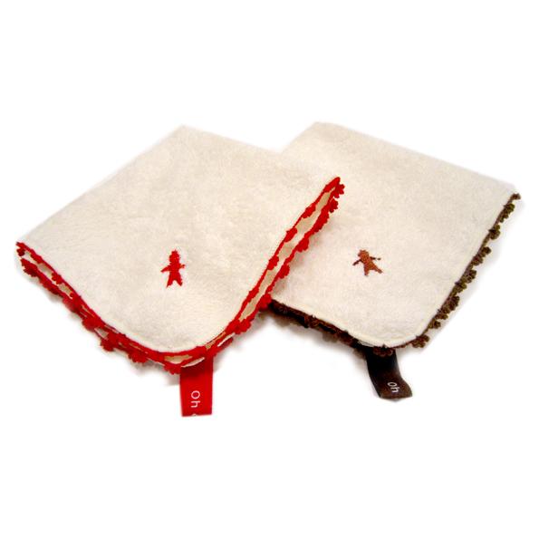 ネコポス可 縁飾りと刺繍を施したオーガニックハンカチ 丁寧に織り上げたオーガニックパイルを使用しています 吸水性はもちろん 肌に優しい仕上がりとなっています 日本産 Oh オーガニックハンカチタオル ORUNET 販売実績No.1 dear オルネット 今治タオル 日本製