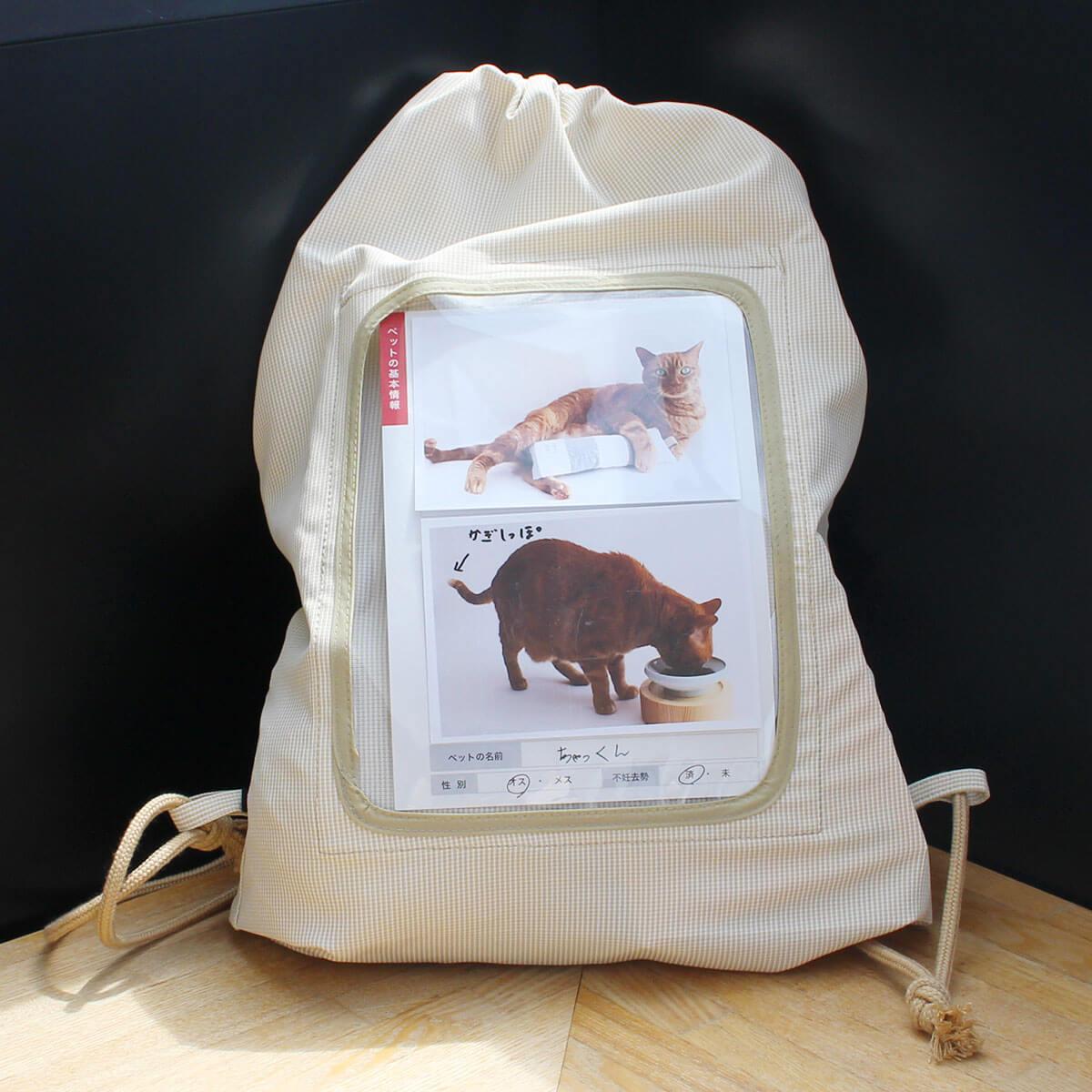 猫 防災用品 nekozuki 防災セット リュック 食器 折りたたみ トイレ 猫砂 消臭袋 防災カード 迷子チラシ ステッカー