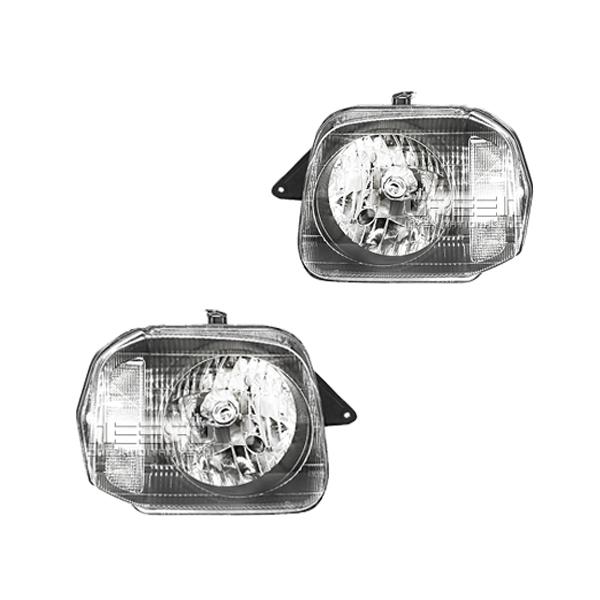 送料無料 クリスタルタイプ ヘッドライト スズキ ジムニー JB23 左右セット ヘッドライト ユニット 本体 外装 交換 インナーブラック