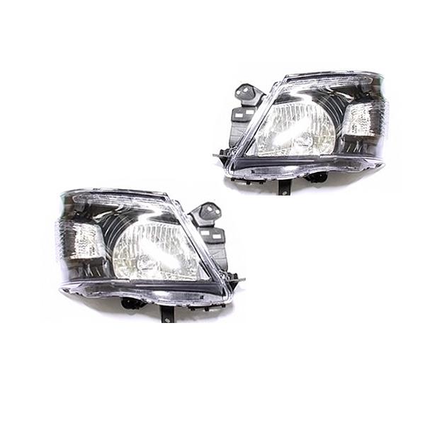 LEDライト内蔵 ヘッドライト NV350キャラバン E26系専用 ブラック 黒 D2バルブ規格 日産【ヘッドランプ HID キセノン バーナー 外装 純正交換用 デイライト ウインカー D2S クリスタル DIY 初心者 ポン付け オススメ】
