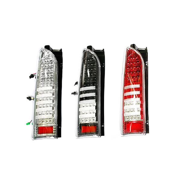 送料無料 フルLEDテールランプ ハイエース 200系 ライトバー付 炸裂88発 3色選択可能 レッド クローム ブラック