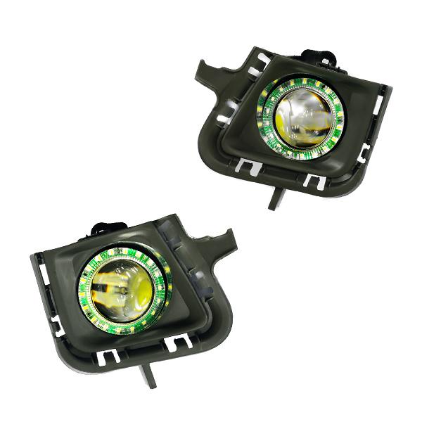交換用 フォグランプLED LEDリング付 フォグライトセット 純正交換 トヨタ フォグベゼル 前期後期
