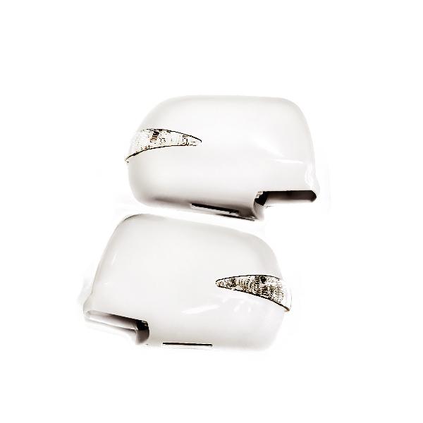 純正交換用 ウインカーLEDミラー カラー062 フットランプ付 30系エスティマ 前期 ウィンカーミラー LEDミラー 純正 カバー LED ホワイト 白