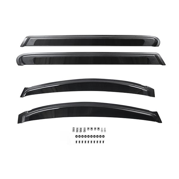 送料無料 サイドドアバイザー アルファード 20系 H20.6~ トヨタ スモーク ブラック サイドバイザー