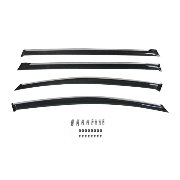 送料無料 サイドドアバイザー エスティマ 50系 H18.1~ トヨタ スモーク ブラック サイドバイザー