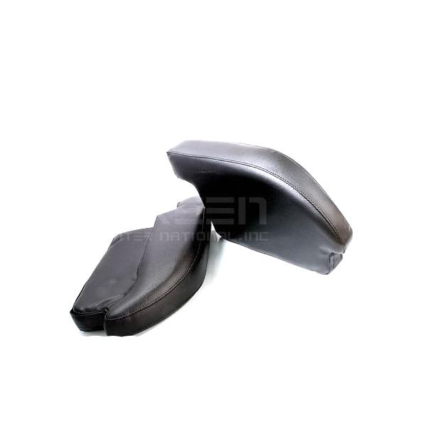 200系ハイエース専用 アームレスト PVCレザー 2個 1セット レジアスエース【ブラック 黒 肘置き 左右セット 低反発 2つ センターコンソールボックス付き車に対応 ウレタン クッション 合皮 スポーツタイプ スマート 肘掛】