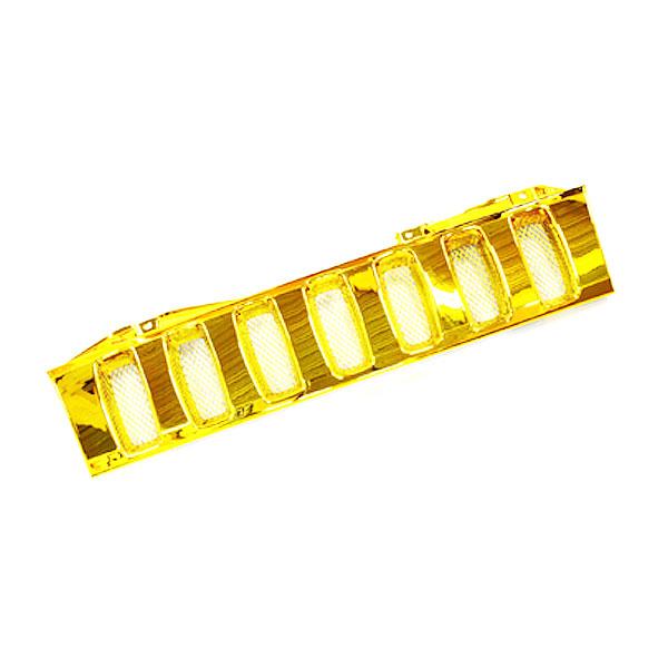 送料無料 フロント用グリル ジムニーグリル JB23専用 ゴールド 金 ハマースタイルグリル ハマー風グリル メッキグリル メッキフロントグリル