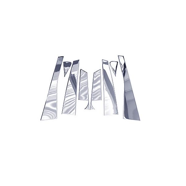 送料無料 ステンレス製メッキピラー アルファード20系/ヴェルファイア20系 全8P セット ステンレス鏡面 ステンレスピラー サイドピラー メッキライン メッキモール ウインドウモール ドアモール サイドモール ピラーガーニッシュ