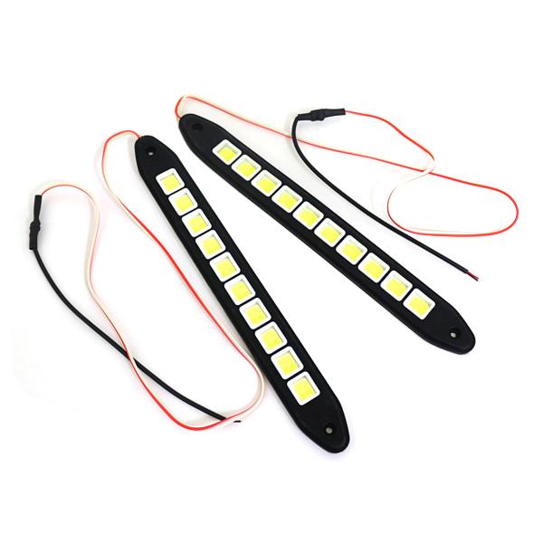 汎用 COB LED デイライト 面発光タイプ スポット ランプ メール便送料無料 2個セット マーケティング デイライトLED 面発光 テープ 26cm LED 通販 薄型 防水 バックライト ホワイト 12V スポットライト スティック型