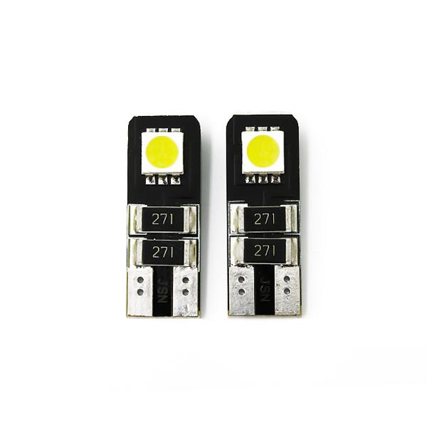 LED化 キャンセラー 抵抗 即出荷 内蔵 ホワイト 輸入車 外車 メール便送料無料 T10 LEDバルブ 2個セット 外車に 爆安プライス ポジション球 2発 バックランプ カーテシ ナンバー灯 LED キャンセラー内臓 などに SMD LED球 白