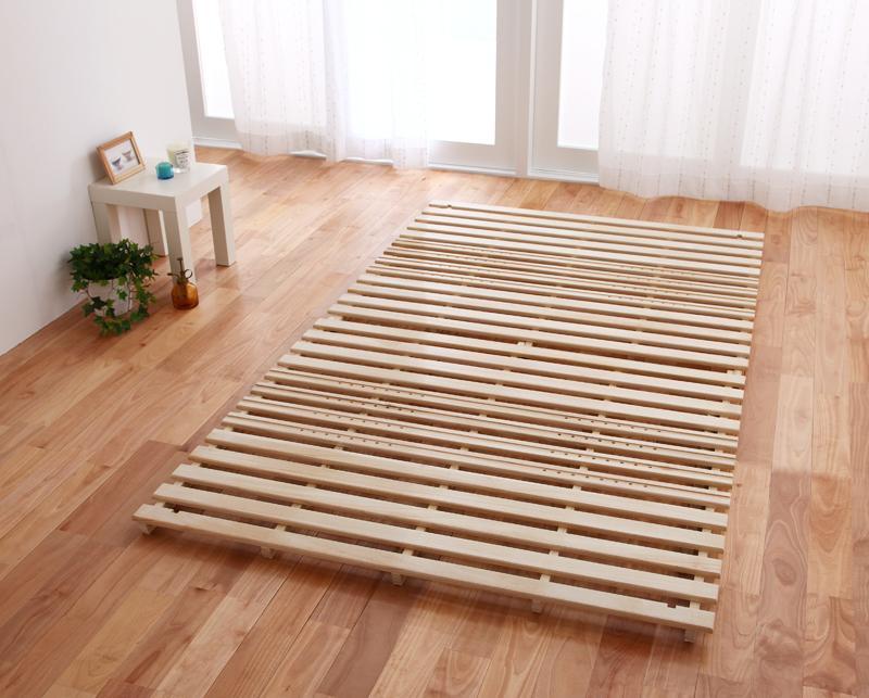 通気孔付きスタンド式すのこベッド【AIR PLUS】エアープラス ダブルサイズ