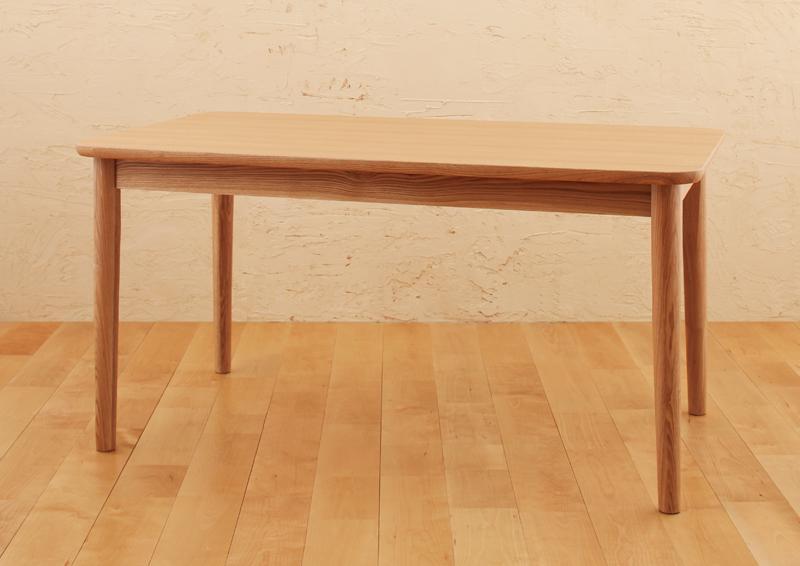 【スーパーSALE限定価格】【単品】ダイニングテーブル 幅130cm ブラウン 天然木ロースタイルダイニング【Kukku】クック【代引不可】