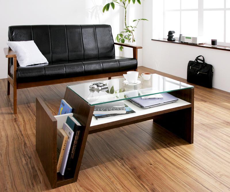 【単品】強化ガラステーブル ブラウン デザイン強化ガラステーブル【Luke】ルーク【代引不可】