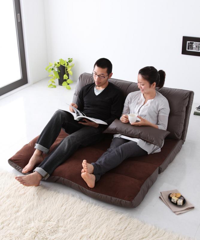 ソファーベッド 幅140cm【Luxer】ピンク コンパクトフロアリクライニングソファベッド【Luxer】リュクサー【代引不可】