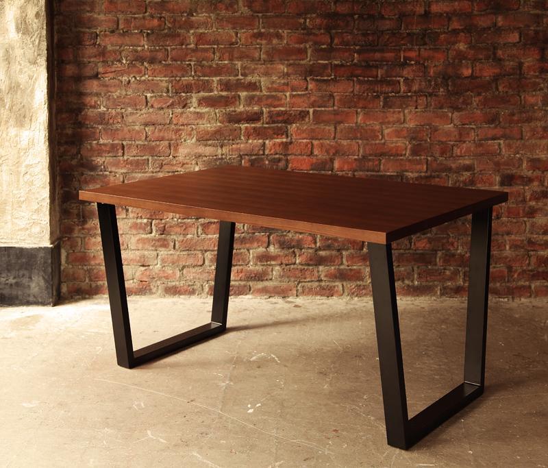 【単品】ダイニングテーブル【66】アメリカンヴィンテージデザイン リビングダイニング【66】ダブルシックス ウォールナット材テーブル(W120) スチール脚