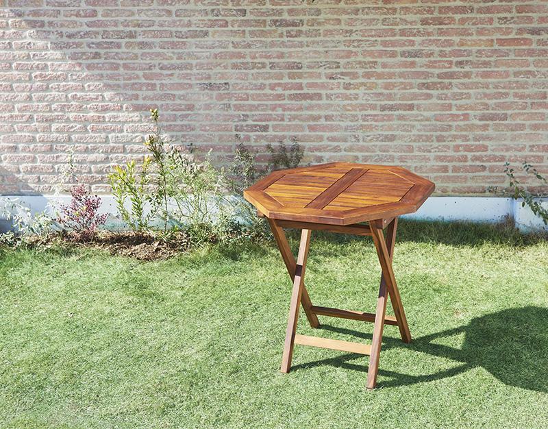 【単品】テーブルB(八角形)【fawn】チーク天然木 折りたたみ式本格派リビングガーデンファニチャー【fawn】フォーン【代引不可】