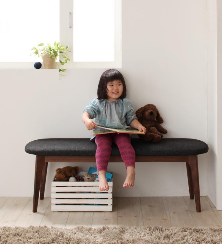【ベンチのみ】ダイニングベンチ【Cura】グレー 北欧デザイン らくらく回転チェアダイニング【Cura】クーラ