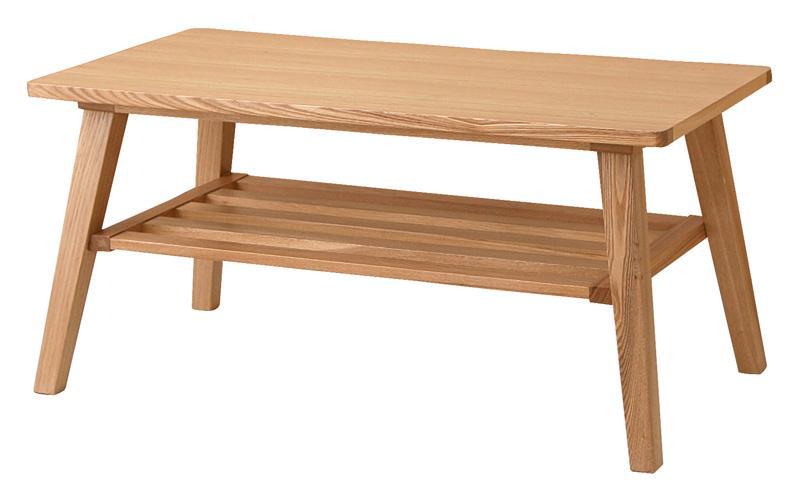 【単品】ローテーブル【Milka】ブラウン 天然木北欧スタイル ソファダイニング【Milka】ミルカ ローテーブル【代引不可】