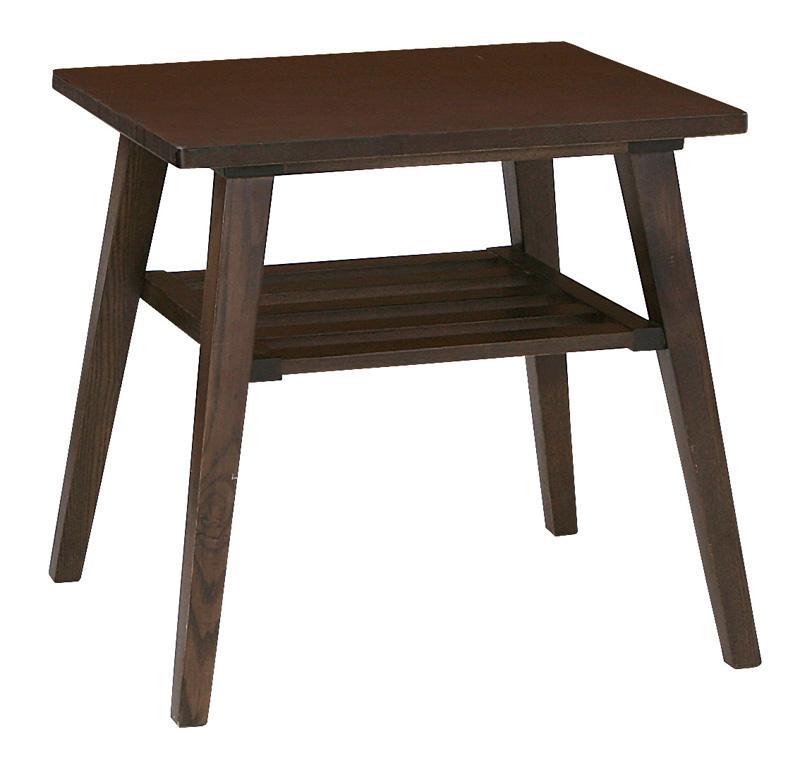 【単品】サイドテーブル【Milka】ブラウン 天然木北欧スタイル ソファダイニング【Milka】ミルカ サイドテーブル【代引不可】